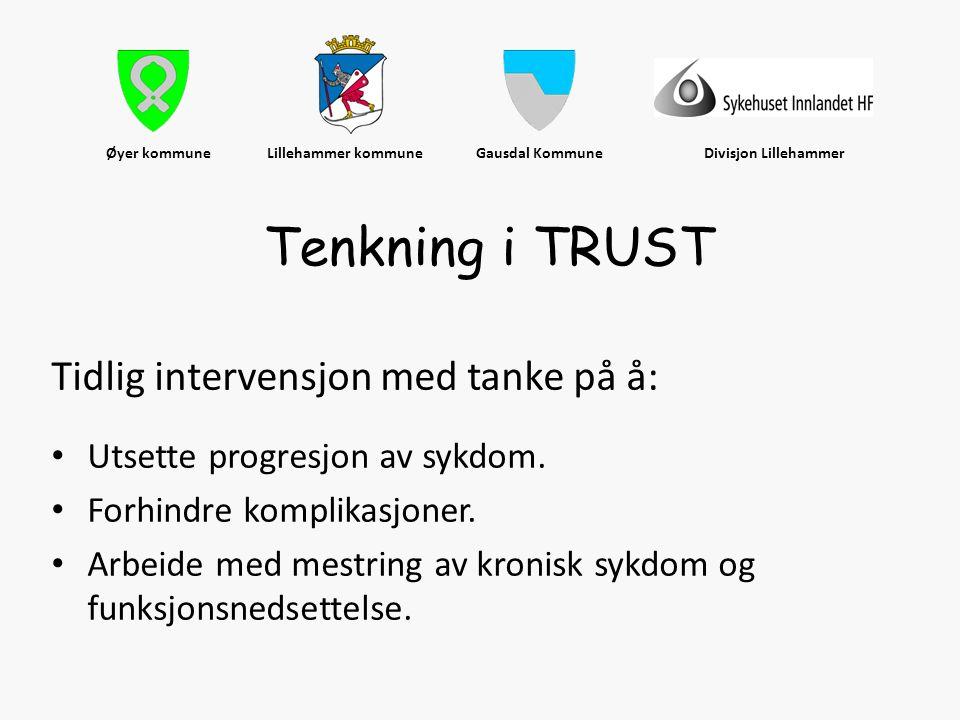 Øyer kommune Lillehammer kommune Gausdal Kommune Divisjon Lillehammer Tidlig intervensjon med tanke på å: • Utsette progresjon av sykdom. • Forhindre