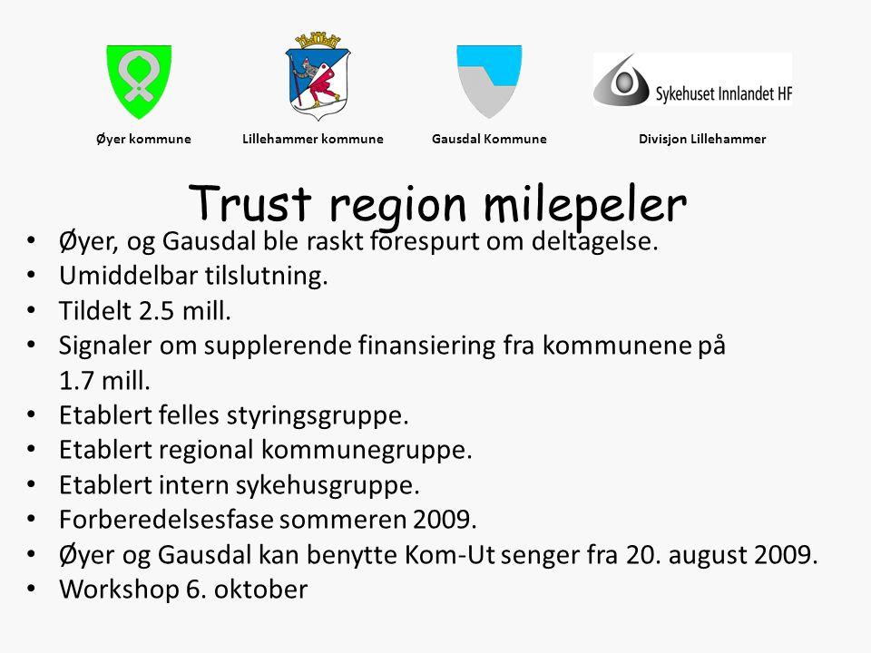Øyer kommune Lillehammer kommune Gausdal Kommune Divisjon Lillehammer • Øyer, og Gausdal ble raskt forespurt om deltagelse. • Umiddelbar tilslutning.