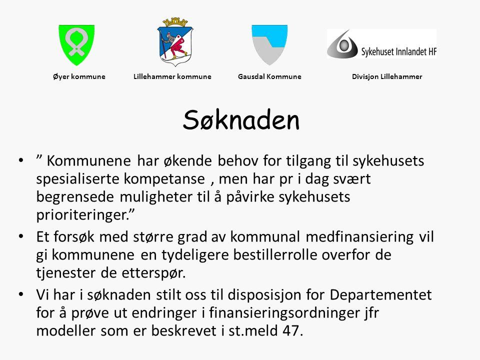 """Øyer kommune Lillehammer kommune Gausdal Kommune Divisjon Lillehammer • """" Kommunene har økende behov for tilgang til sykehusets spesialiserte kompetan"""
