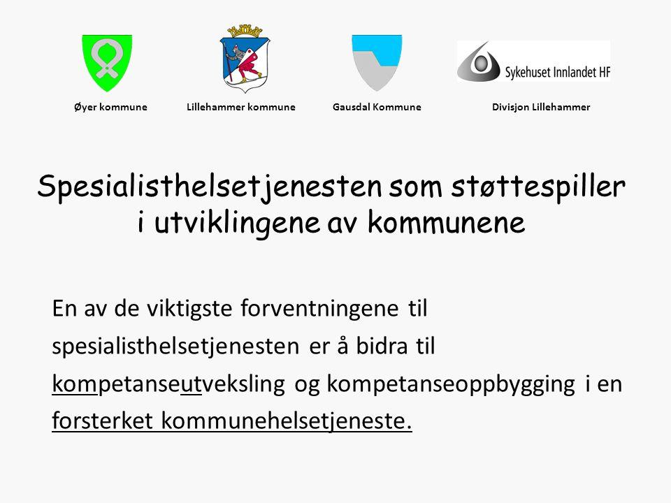 Øyer kommune Lillehammer kommune Gausdal Kommune Divisjon Lillehammer En av de viktigste forventningene til spesialisthelsetjenesten er å bidra til ko
