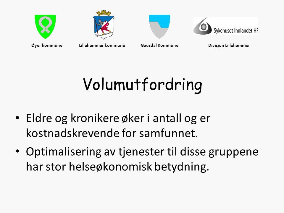 Øyer kommune Lillehammer kommune Gausdal Kommune Divisjon Lillehammer • Eldre og kronikere øker i antall og er kostnadskrevende for samfunnet. • Optim