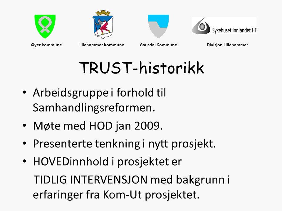 Øyer kommune Lillehammer kommune Gausdal Kommune Divisjon Lillehammer • Arbeidsgruppe i forhold til Samhandlingsreformen. • Møte med HOD jan 2009. • P