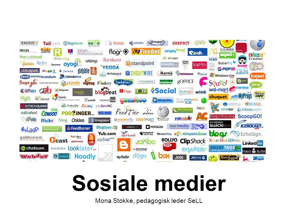 Sosiale medier Mona Stokke, pedagogisk leder SeLL