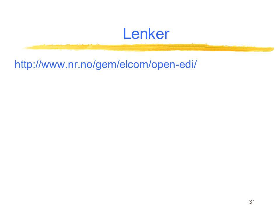 31 Lenker http://www.nr.no/gem/elcom/open-edi/