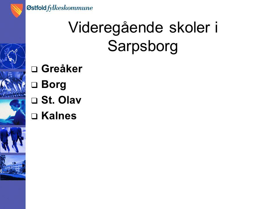 Videregående skoler i Sarpsborg  Greåker  Borg  St. Olav  Kalnes