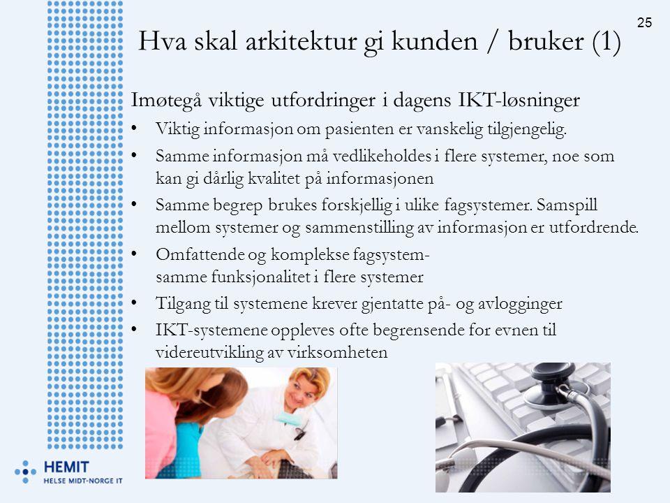 Imøtegå viktige utfordringer i dagens IKT-løsninger •Viktig informasjon om pasienten er vanskelig tilgjengelig. •Samme informasjon må vedlikeholdes i