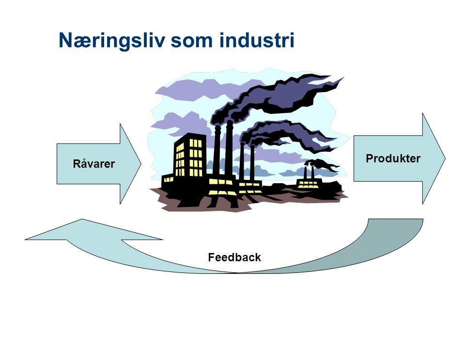 Næringsliv som industri Råvarer Produkter Feedback