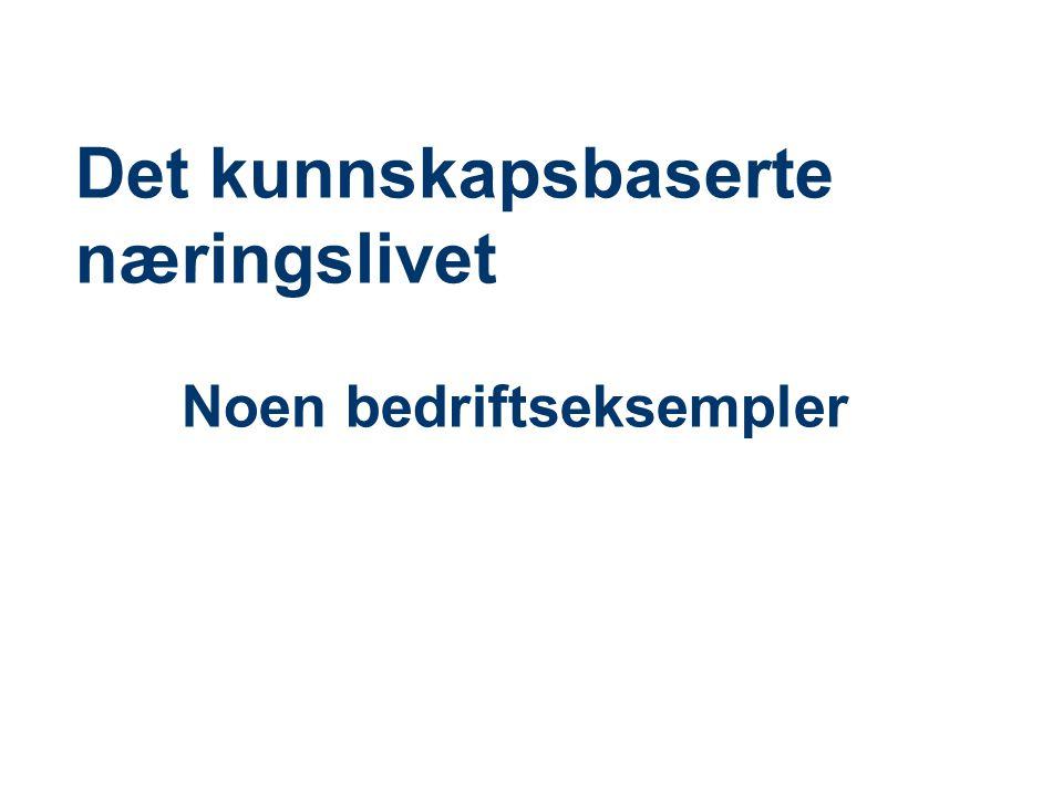 Et kunnskapsbasert Norge: Et nasjonalt agendasettende forskningsprosjekt ved BI • Premiss 1: Fremtidens næringsliv er kunnskapsbasert, miljørobust og kundedrevet • Premiss 2: Fremtidens næringsliv konkurrerer globalt, men lokaliserer regionalt • Premiss 3: Regioner og nasjoner konkurrerer om å være den mest attraktive lokalisering for globalt, kunnskapsbasert og miljørobust næringsliv