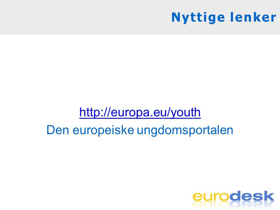 http://europa.eu/youth Den europeiske ungdomsportalen