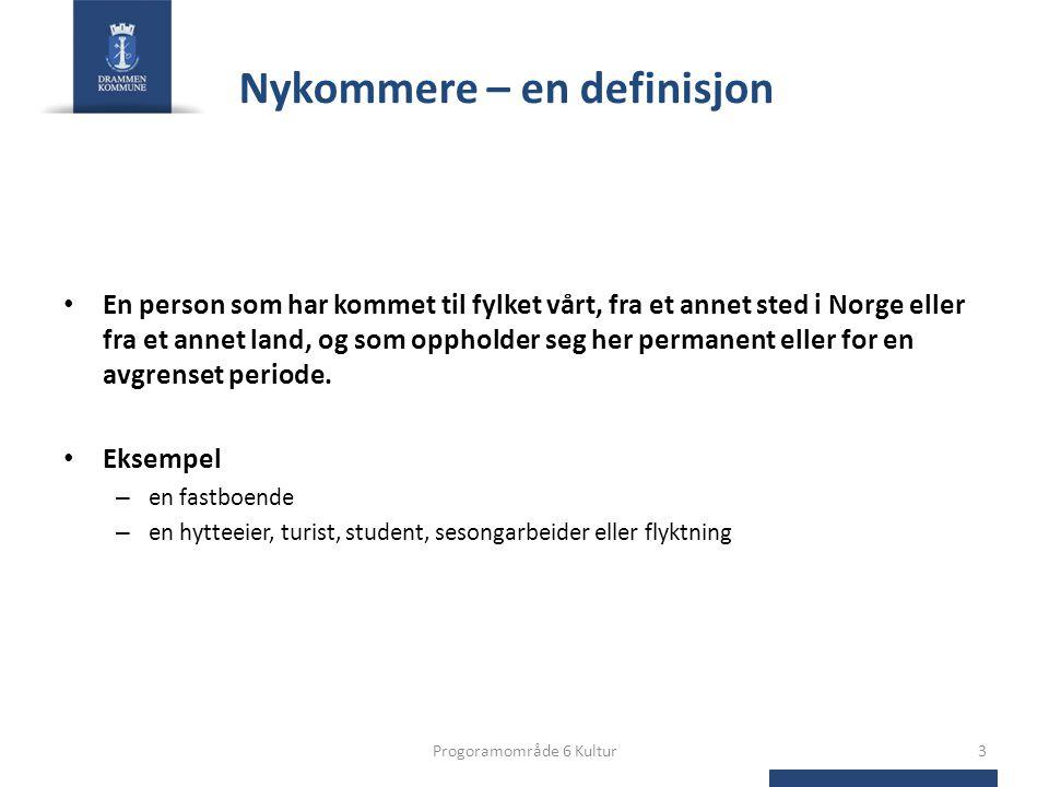 Nykommere – en definisjon • En person som har kommet til fylket vårt, fra et annet sted i Norge eller fra et annet land, og som oppholder seg her permanent eller for en avgrenset periode.