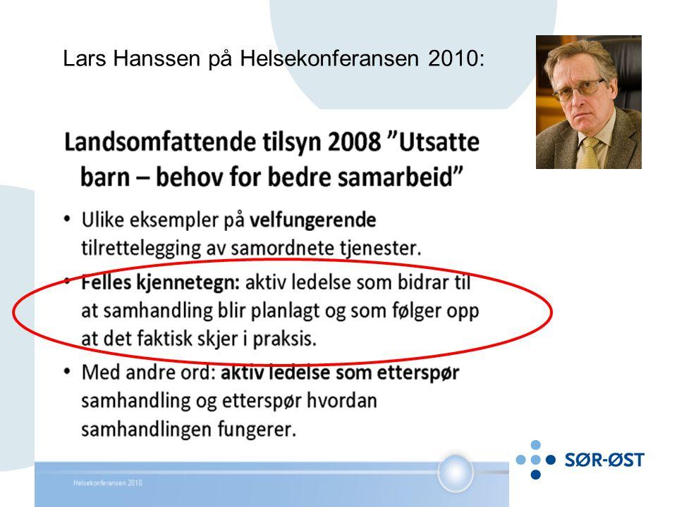 Lars Hanssen på Helsekonferansen 2010: