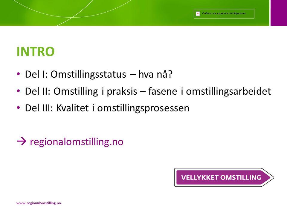 • Kurs • Seminarer • Prosessveiledning • Prosessledelse og analyse Innovasjon Norge finansierer 50% av kostnadene til gjennomføring av ulike verktøy Verktøy www.regionalomstilling.no