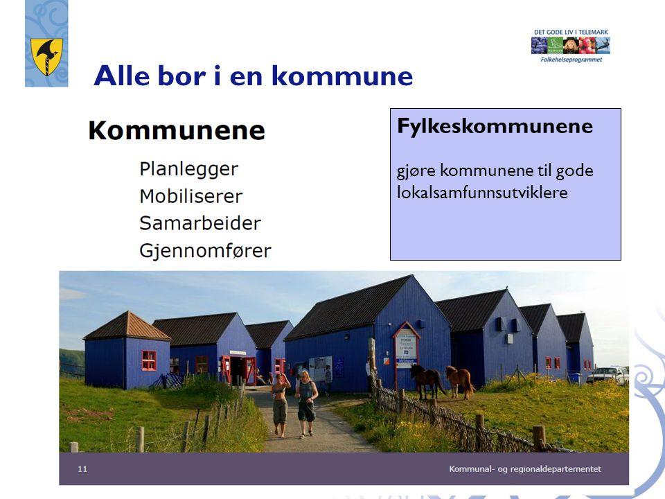 Alle bor i en kommune Fylkeskommunene gjøre kommunene til gode lokalsamfunnsutviklere
