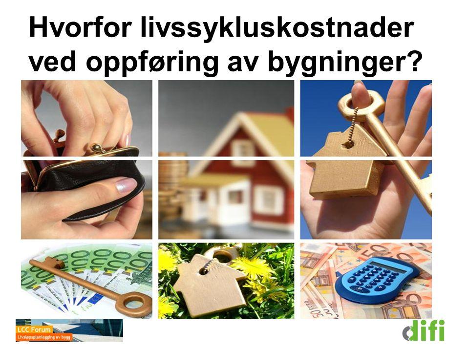 1. Livssykluskostnad, LCC (K) 2. Årskostnad, ÅK Oppsummering