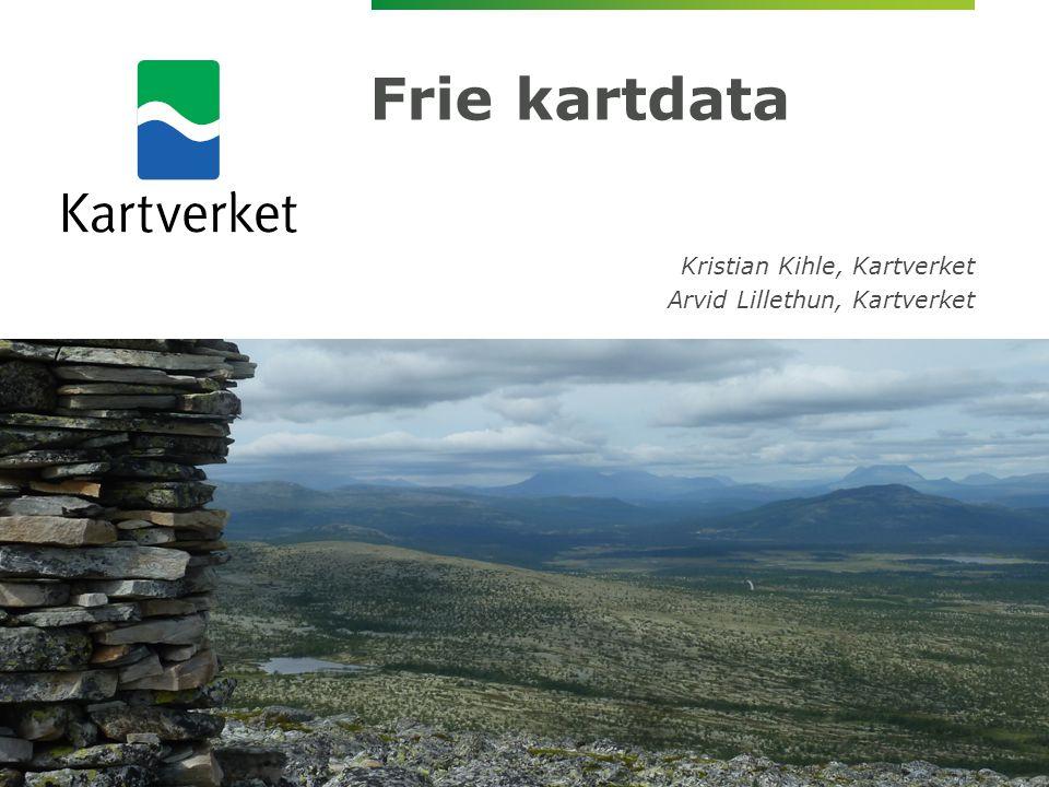 Frie kartdata Kristian Kihle, Kartverket Arvid Lillethun, Kartverket