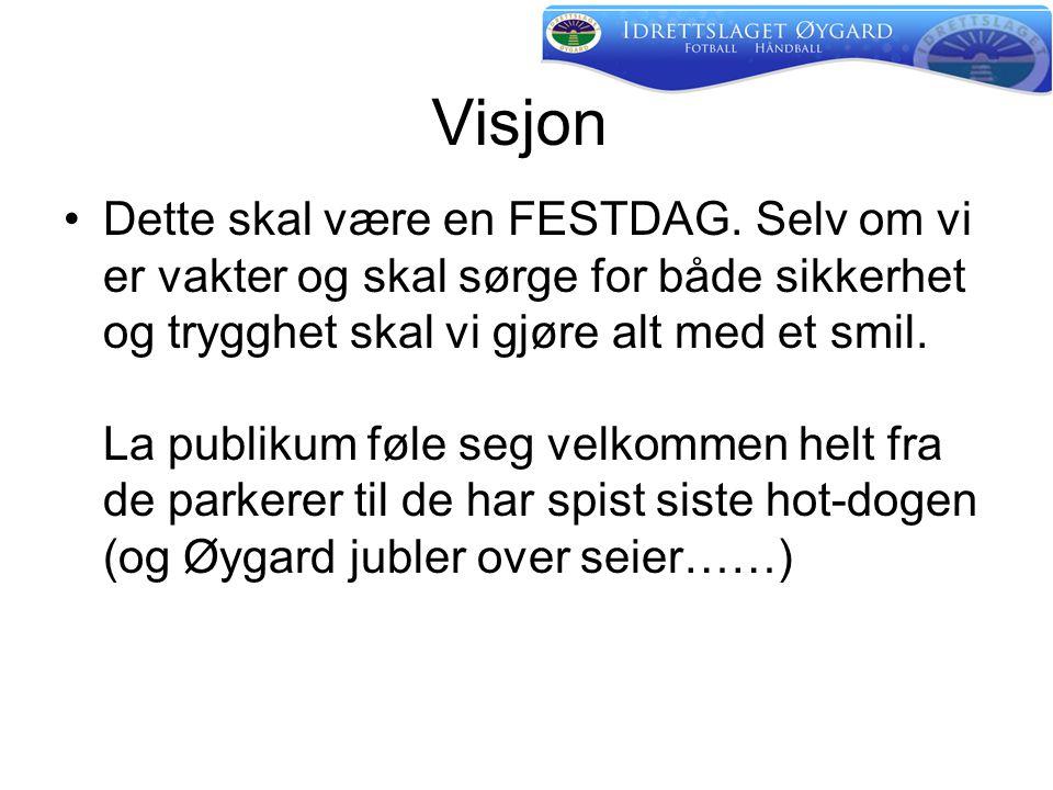 Visjon •Dette skal være en FESTDAG.