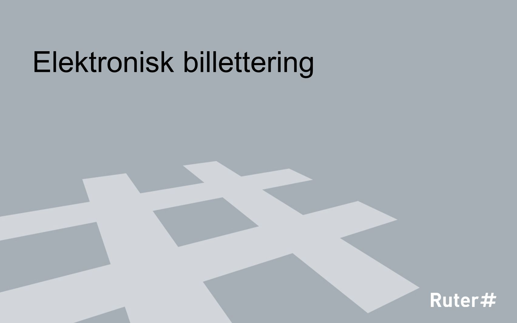 Elektronisk billettering
