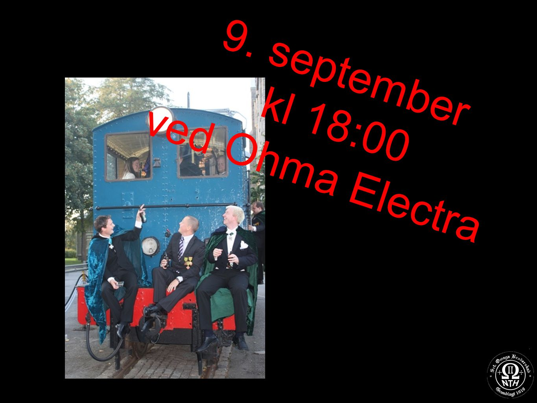 9. september kl 18:00 ved Ohma Electra