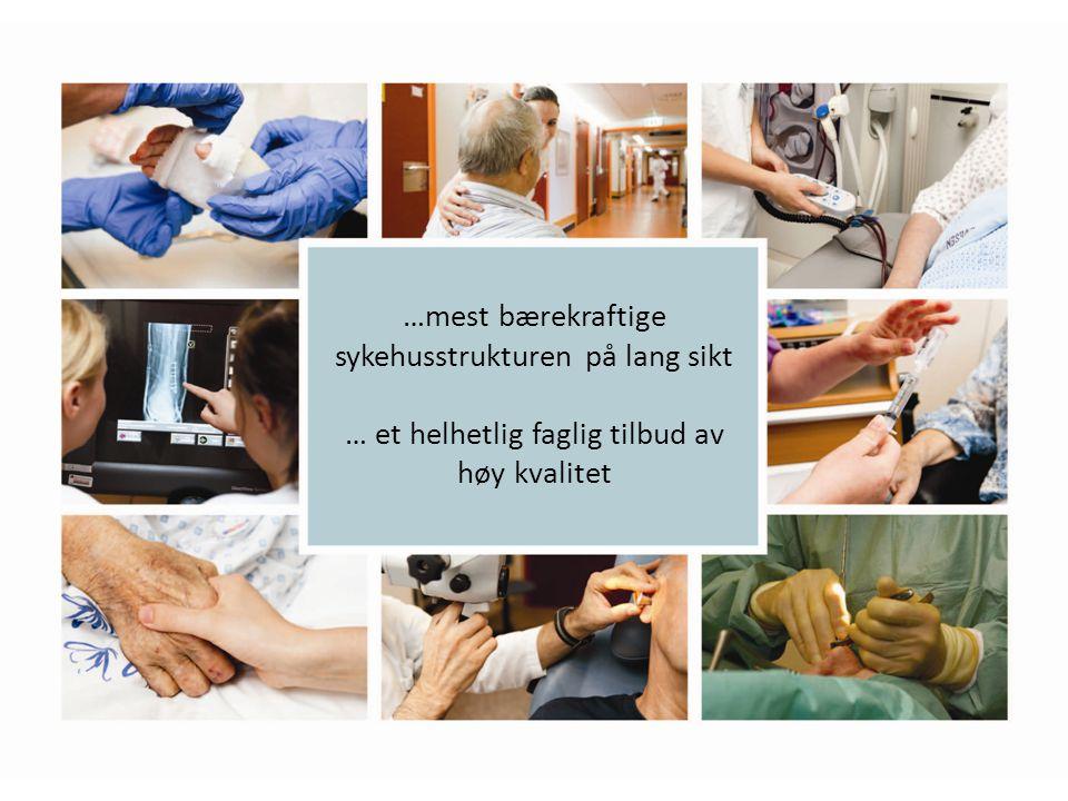 …mest bærekraftige sykehusstrukturen på lang sikt … et helhetlig faglig tilbud av høy kvalitet