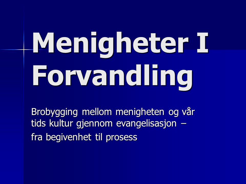 Tradisjonell Evangeliserings metode  Å flytte mennesker fra venstre til høyre FrelstFortapt m.a.o.