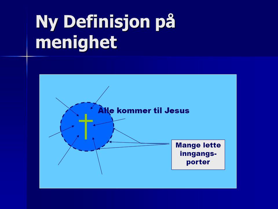 Ny Definisjon på menighet Alle kommer til Jesus Mange lette inngangs- porter