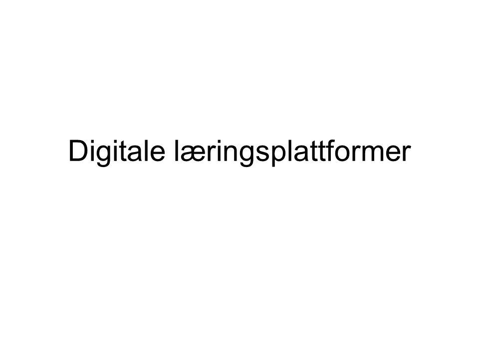 Digitale læringsplattformer