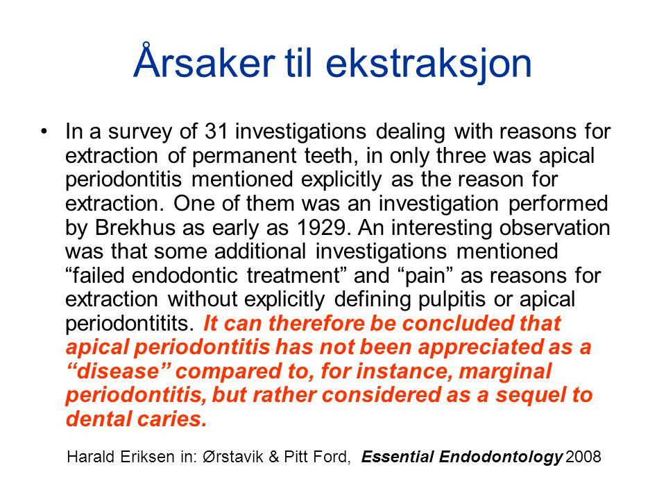 Overlevelse : molarer uten krone Nagasiri R, Chitmongkolsuk S.