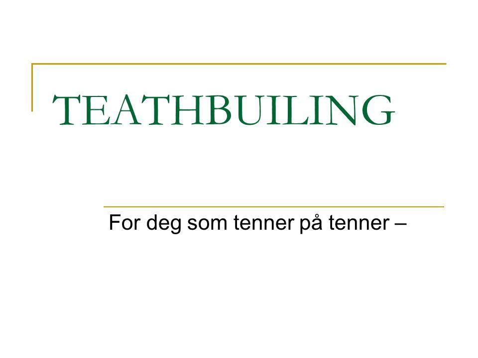TEATHBUILING For deg som tenner på tenner –