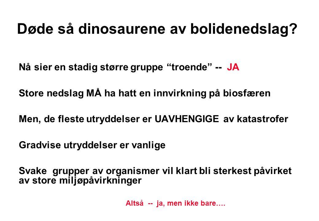 Pattedyrutviklingen Når dinosaurene døde ut EKSPLODERTE pattedyrutviklingen Fra Wicander & Monroe 2000