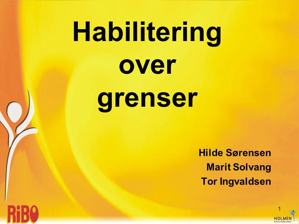 Habilitering over grenser Hilde Sørensen Marit Solvang Tor Ingvaldsen 1