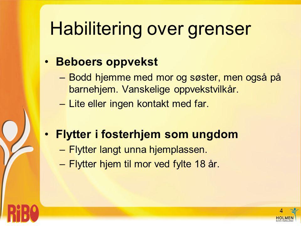 Habilitering over grenser •Surrogatvaretekt som ramme for habiliteringsopplegg.