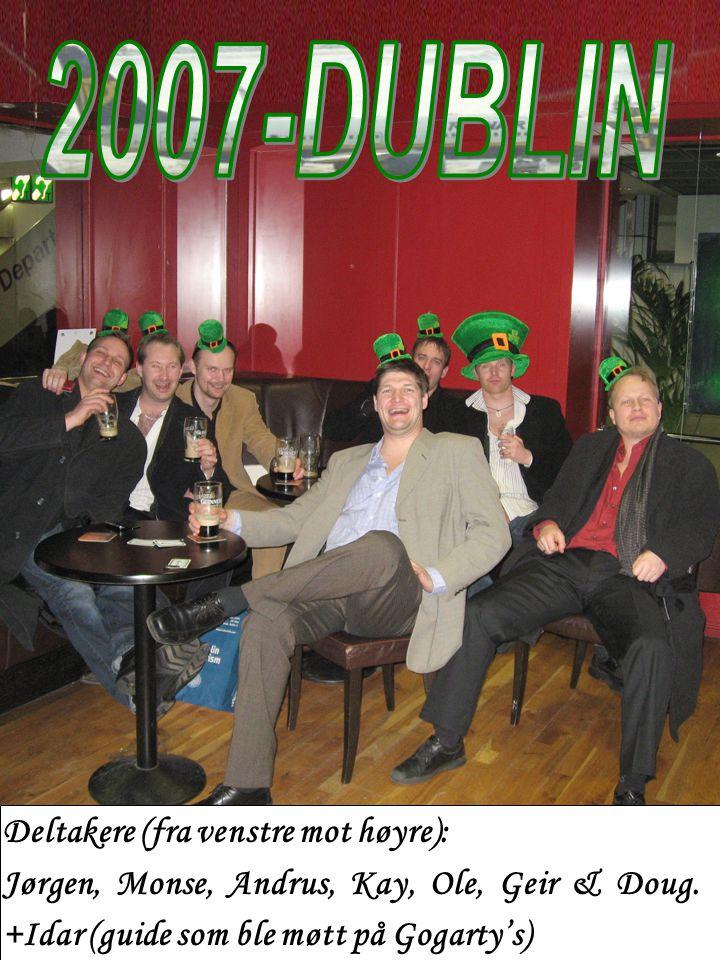 Deltakere (fra venstre mot høyre): Jørgen, Monse, Andrus, Kay, Ole, Geir & Doug.