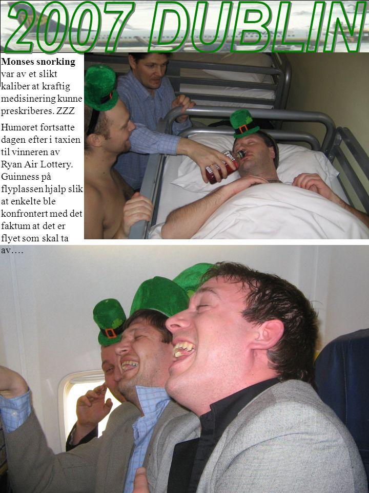 Monses snorking var av et slikt kaliber at kraftig medisinering kunne preskriberes.