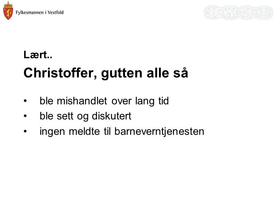 To brødre - saken Innhentet opplysninger fra Fire fastleger Tannhelsetjenesten Helsestasjon Skolehelsetjenesten Sykehuset i Vestfold HF Psykiatrien i Vestfold HF Legevakt