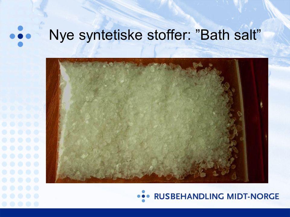 Nye syntetiske stoffer: Bath salt
