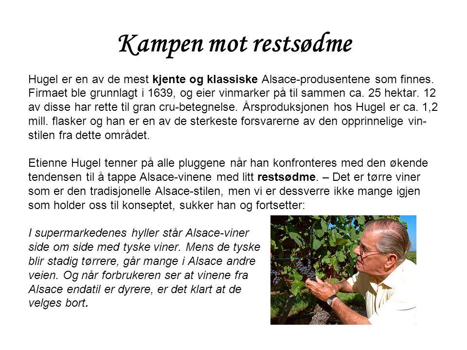 Kampen mot restsødme Hugel er en av de mest kjente og klassiske Alsace-produsentene som finnes.