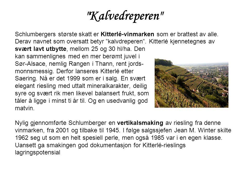 Kalvedreperen Schlumbergers største skatt er Kitterlé-vinmarken som er brattest av alle.
