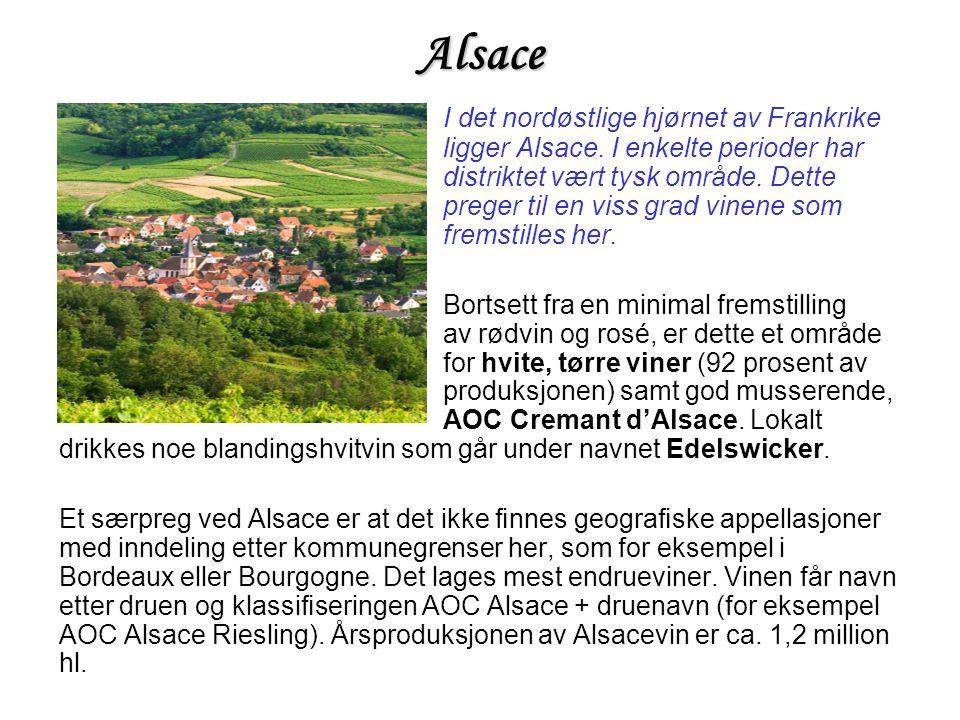 Alsace I det nordøstlige hjørnet av Frankrike ligger Alsace.