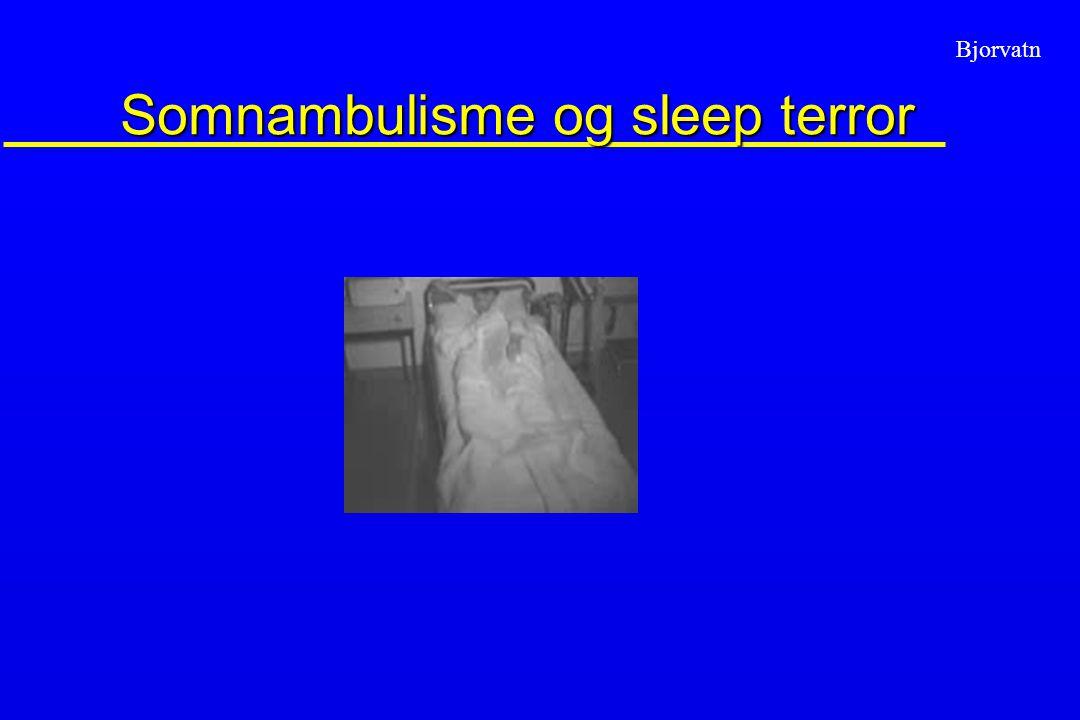 Bjorvatn Somnambulisme og sleep terror