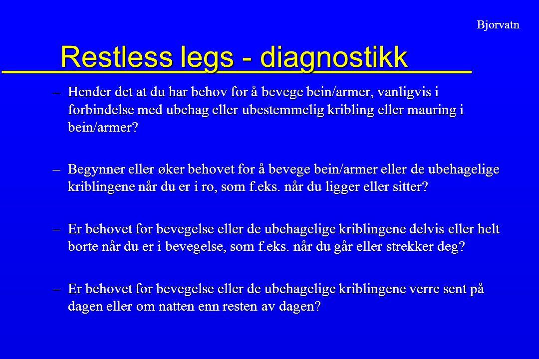 Bjorvatn Restless legs - prevalens u Bjorvatn et al.