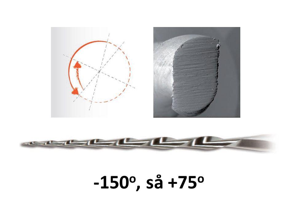 Maskinell instrumentering •Instrumentet monteres på vinkelstykket – ikke fingrene direkte på filen...