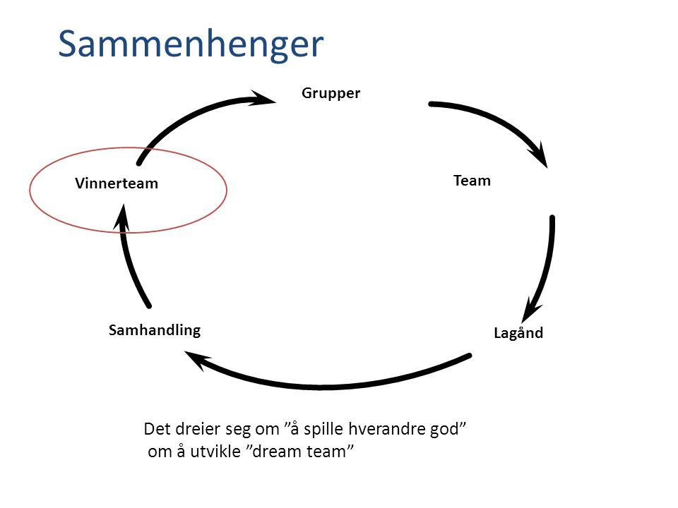 Sammenhenger Grupper Team Lagånd Vinnerteam Samhandling Det dreier seg om å spille hverandre god om å utvikle dream team