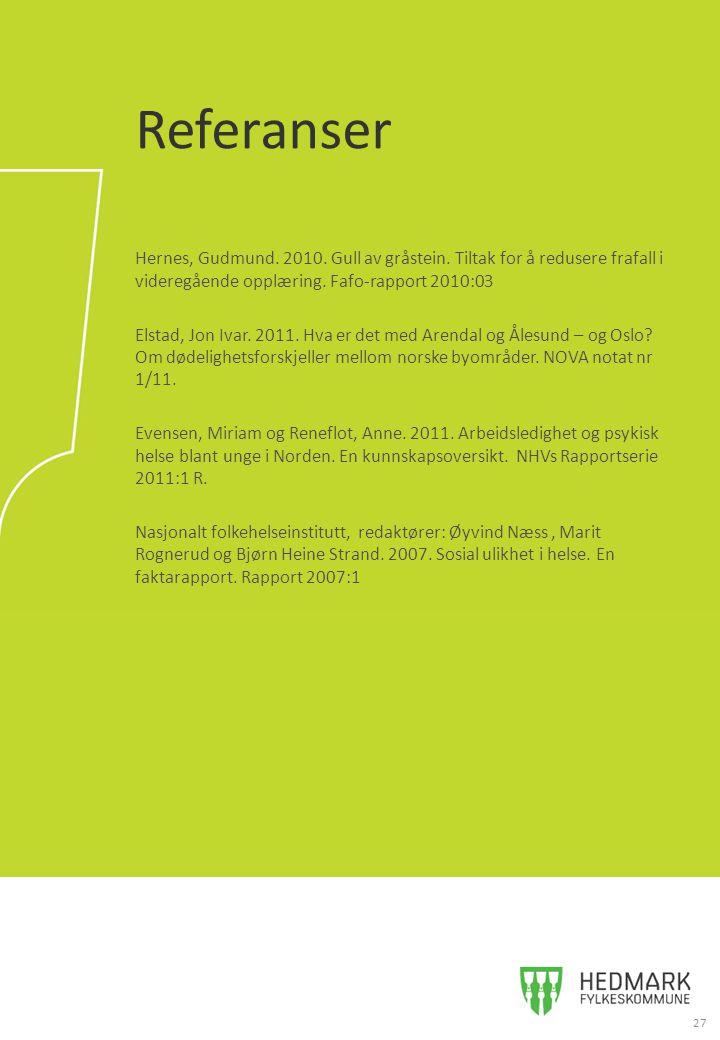 Hernes, Gudmund.2010. Gull av gråstein. Tiltak for å redusere frafall i videregående opplæring.