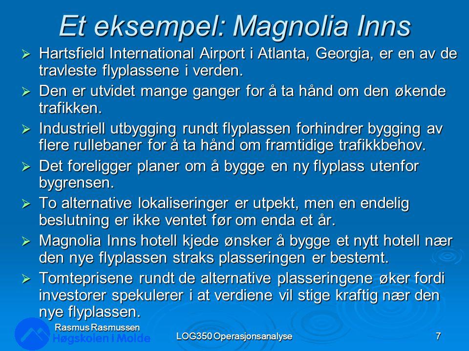 Sannsynlighetstre LOG350 Operasjonsanalyse48 Rasmus Rasmussen