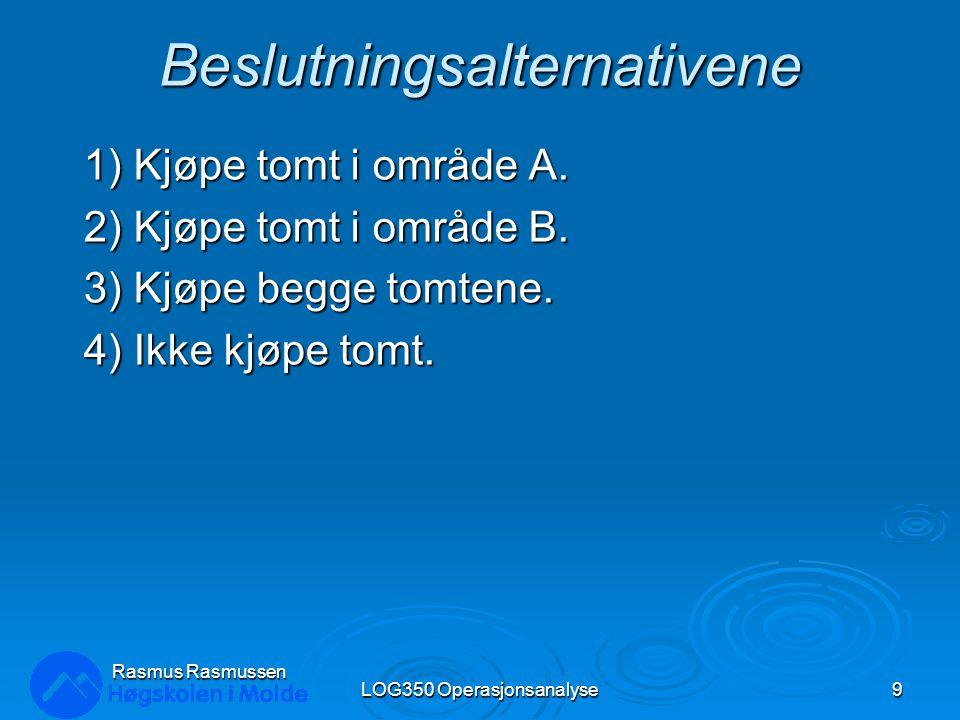 Decision Tree i Excel LOG350 Operasjonsanalyse30 Rasmus Rasmussen Dobbel-klikk for å endre: