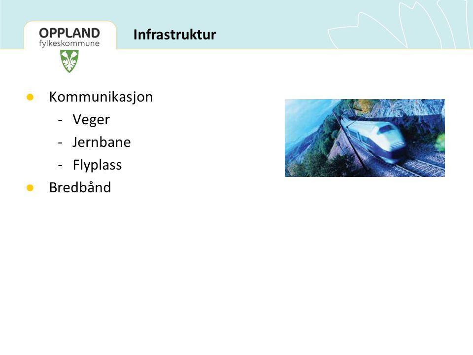 ● Kommunikasjon -Veger -Jernbane -Flyplass ● Bredbånd Infrastruktur