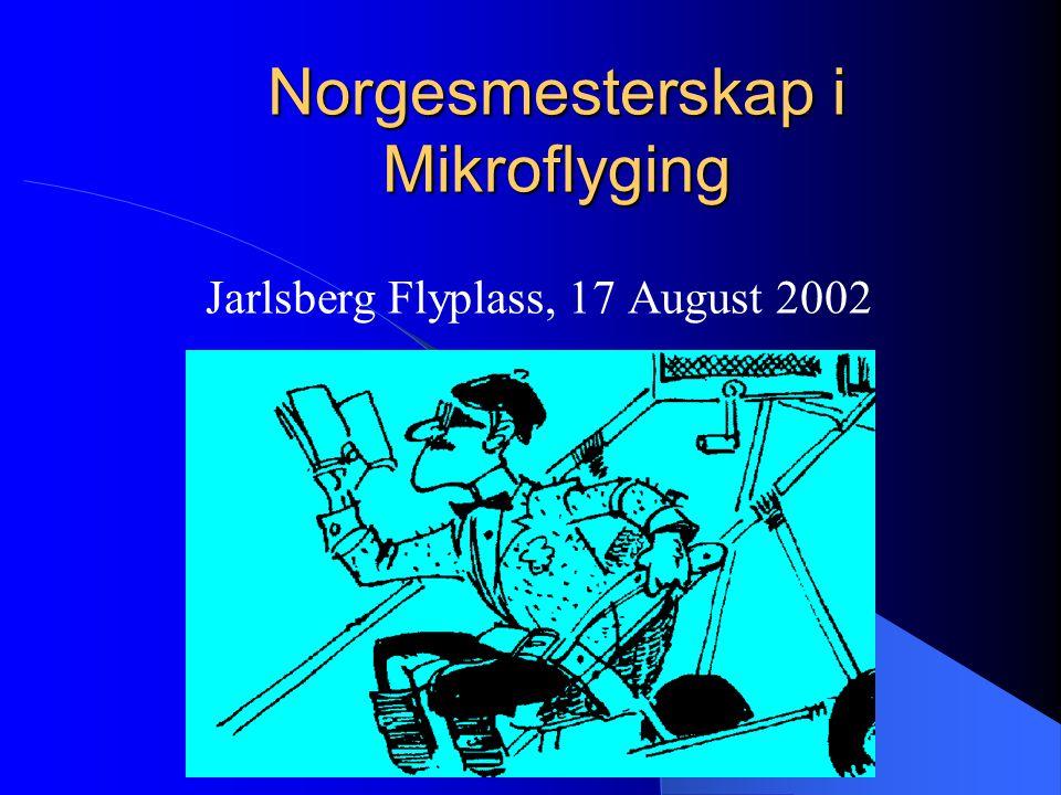 Norgesmesterskap i Mikroflyging Jarlsberg Flyplass, 17 August 2002