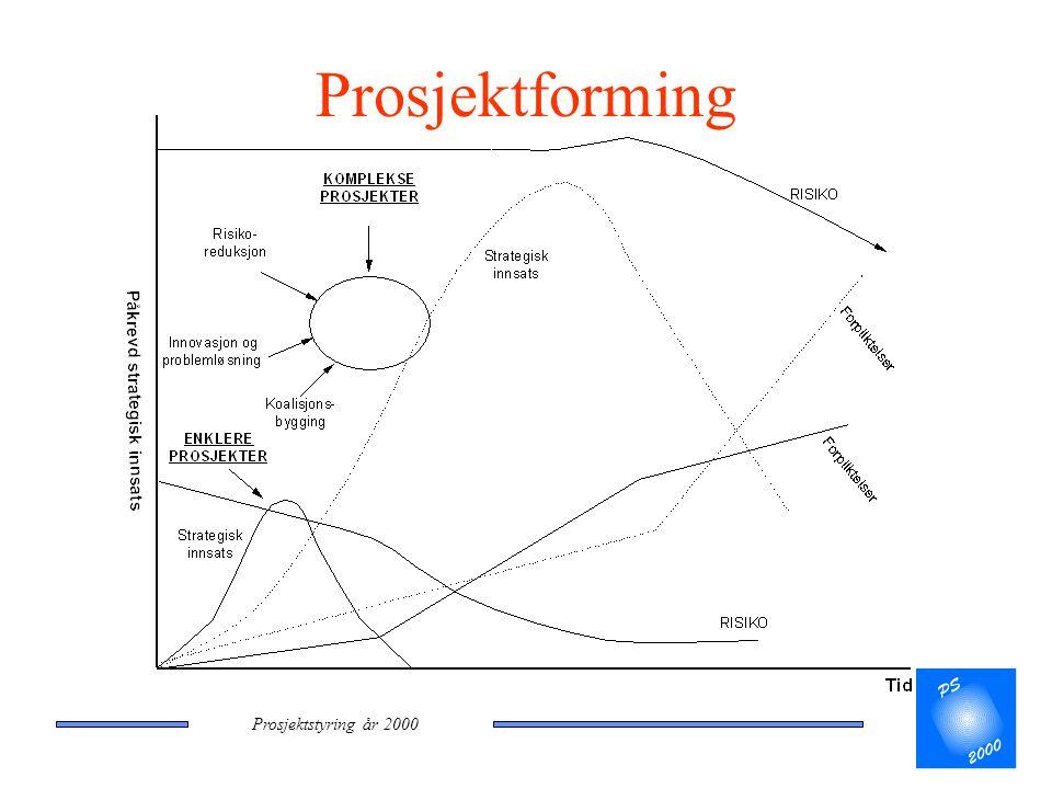 Prosjektstyring år 2000 Prosjektforming