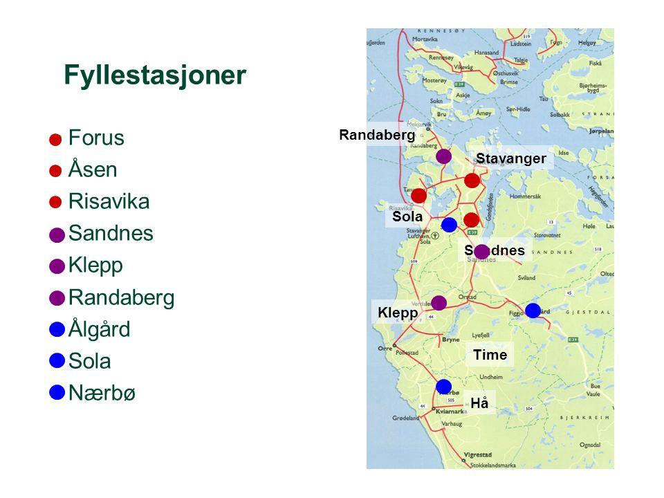 •Forus •Åsen •Risavika •Sandnes •Klepp •Randaberg •Ålgård •Sola •Nærbø Stavanger Sandnes Sola Klepp Time Hå Randaberg