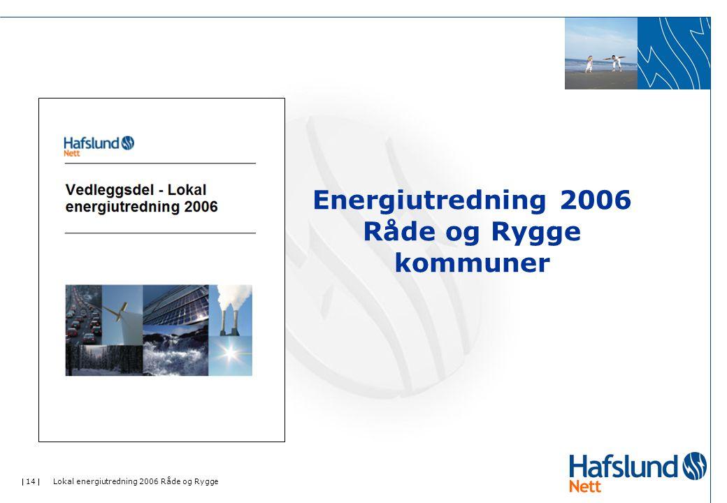  14  Lokal energiutredning 2006 Råde og Rygge Energiutredning 2006 Råde og Rygge kommuner